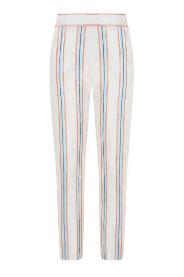 Jacquard skinny trousers