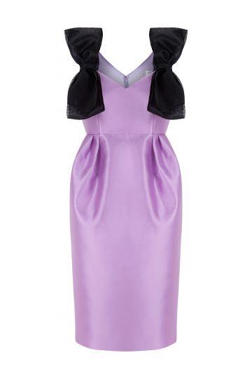 Mini vestido de tirantes con lazos