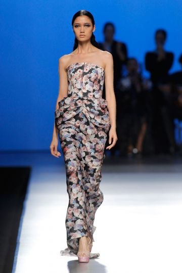 Long print dress