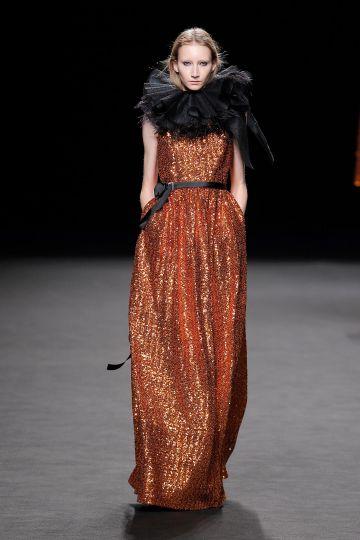 Long dress in paillettes