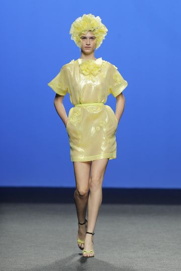 Yellow iris organza dress
