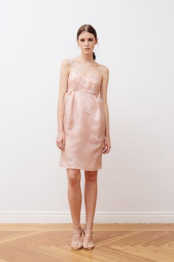 Organza strapless dress
