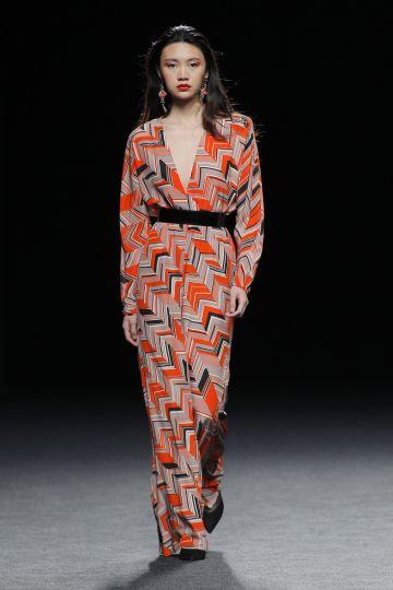 Vestido largo en print gazar