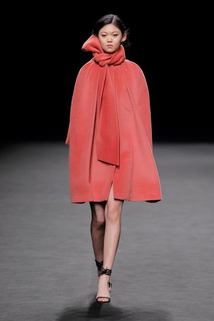 Coat with cape style