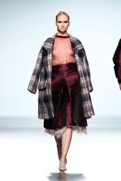 Mohair coat & mikado skirt