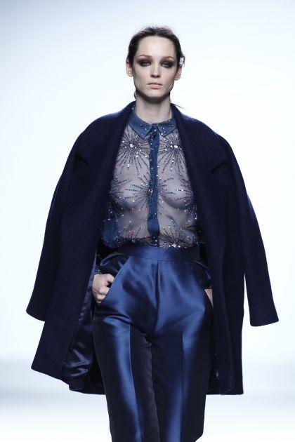 Oversize cooked wool coat