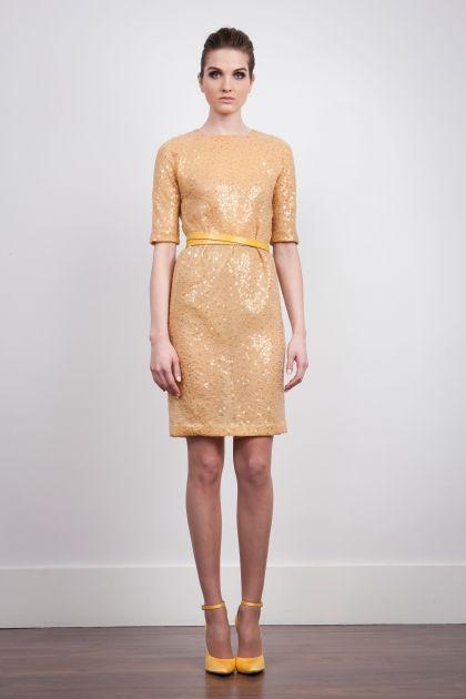 Short dress in paillettes