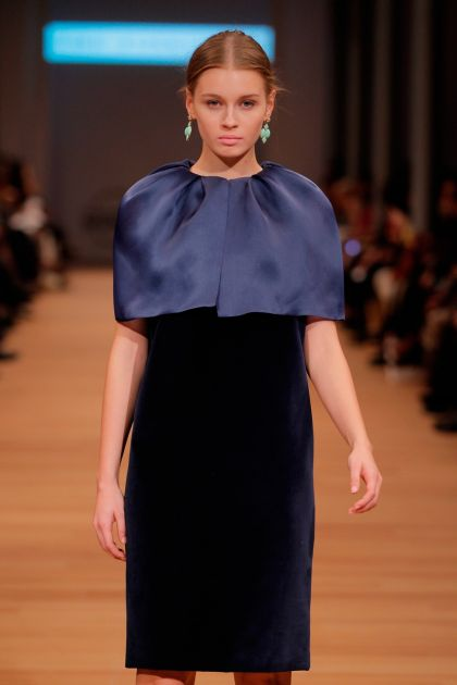 Cape with pleats