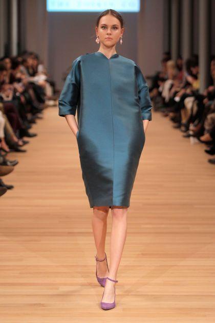 Three quartes sleeves dress with volume