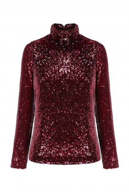 Paillettes top