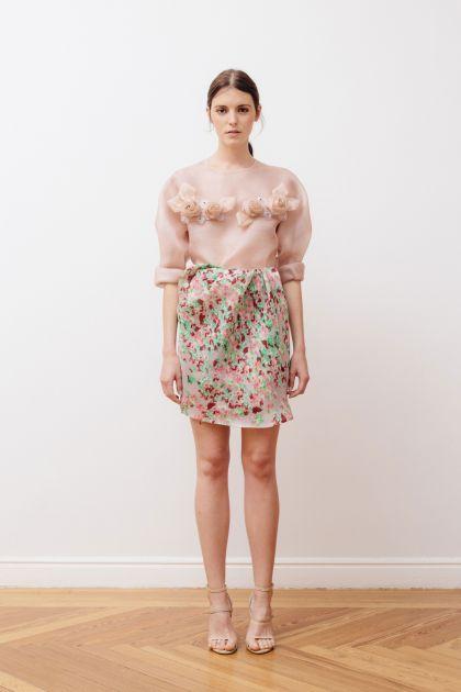Gazar print skirt