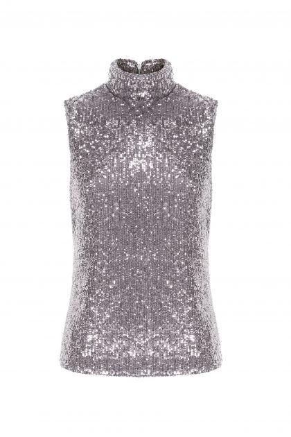 Sleeveless paillettes top