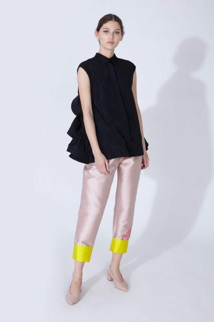 Camisa tafeta & pantalón mikado