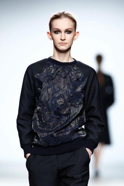 Espiga and cloqué sweatshirt