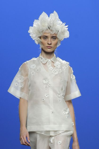 White organza shirt