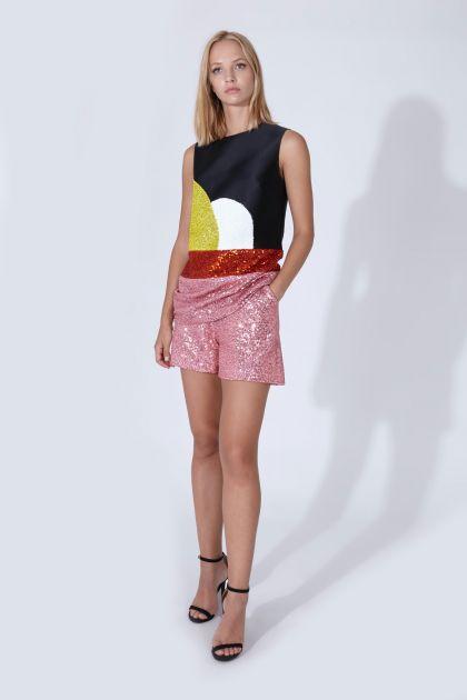 Top & shorts paillettes
