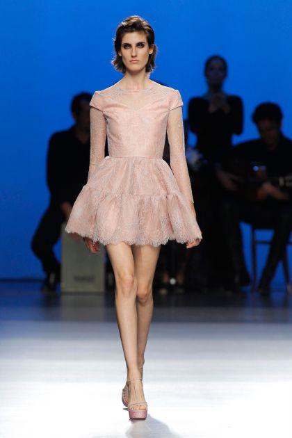 Lace top & mini dress
