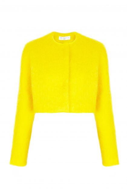 Chaqueta mohair amarilla