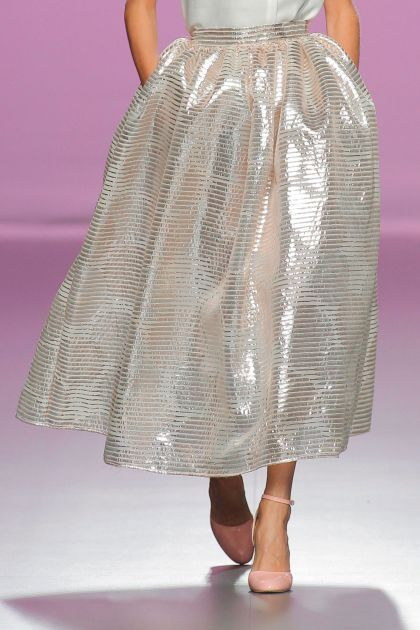 Lurex organza skirt