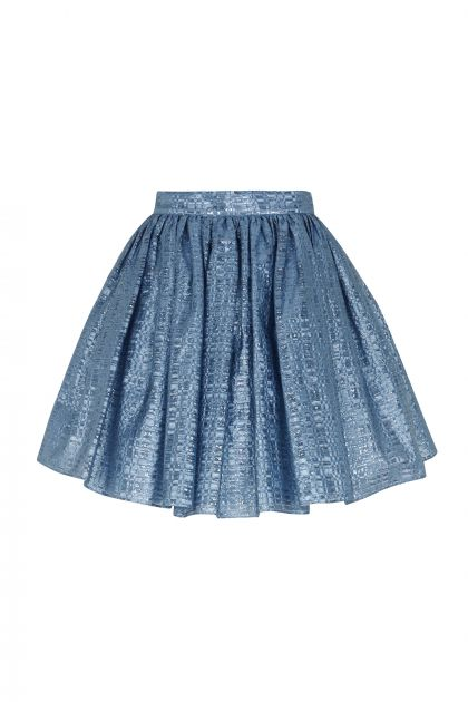 Mini skirt with volume