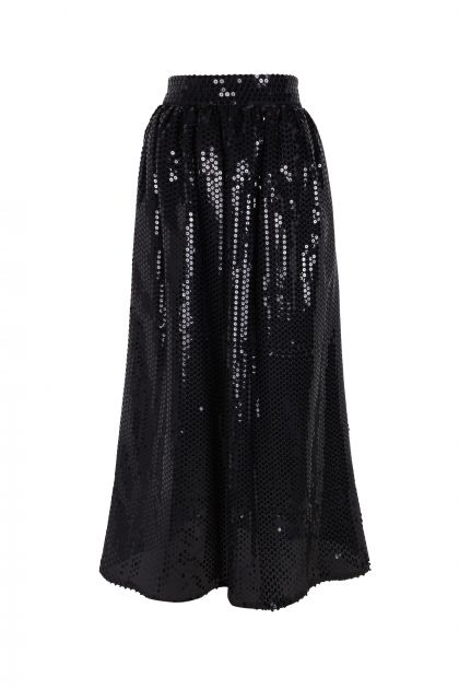 Midi paillettes skirt
