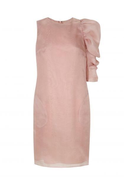 Puffed sleeves dress