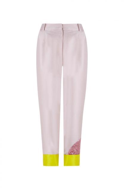 Pantalón patch mikado