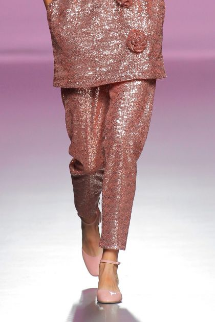 Pink paillettes trousers
