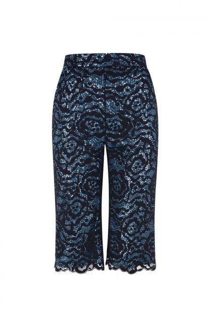 Lace & paillettes trousers