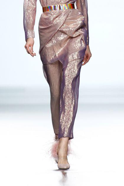 Lurex skinny trousers