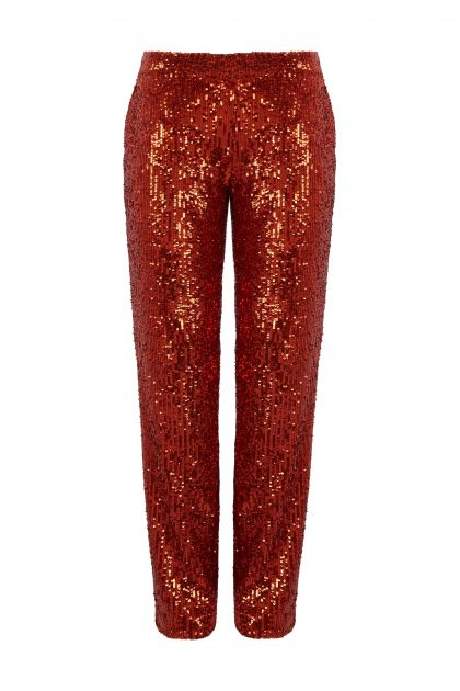 Pantalon largo de paillettes