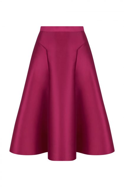 Midi skirt with volume