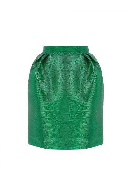 Taffeta lúrex mini skirt