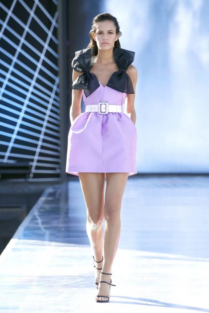 Mini dress with organza bows