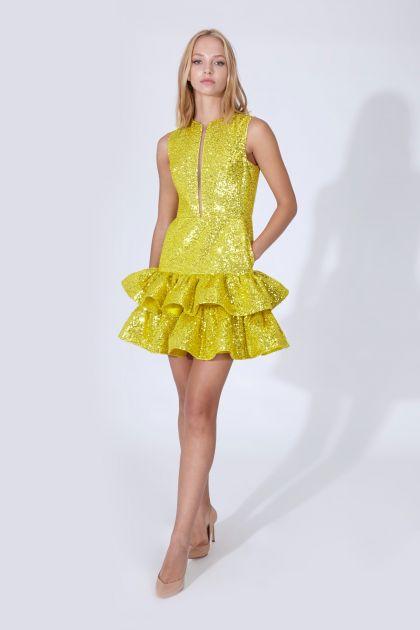 Vestido mini paillettes