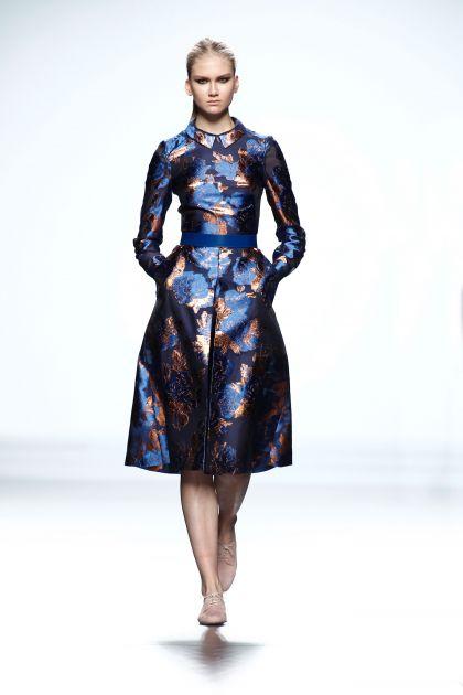 Fil coupé shirtwaist dress