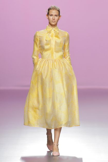 Yellow Organza dress