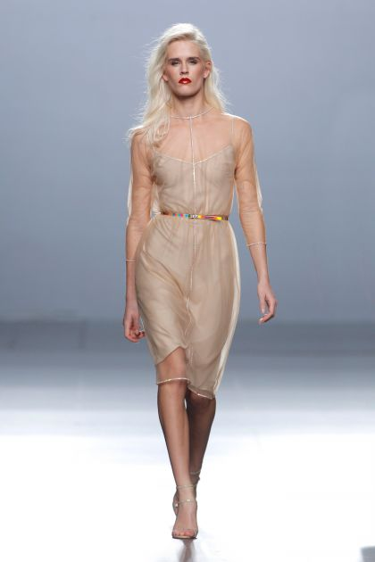 Nude tule dress