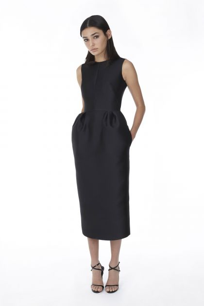 Sleeveless mikado dress