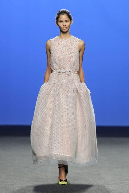 Pink plumeti dress
