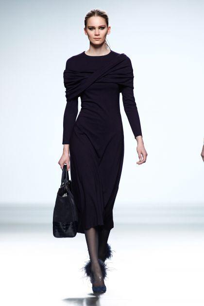 Knit draped dress