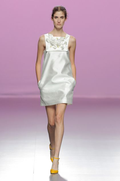 White Dupion mini-dress