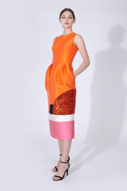 Patch shift dress