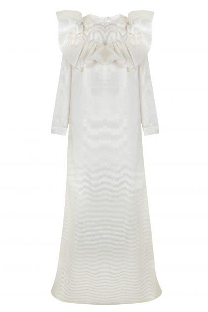 Ruffled Chest Dress