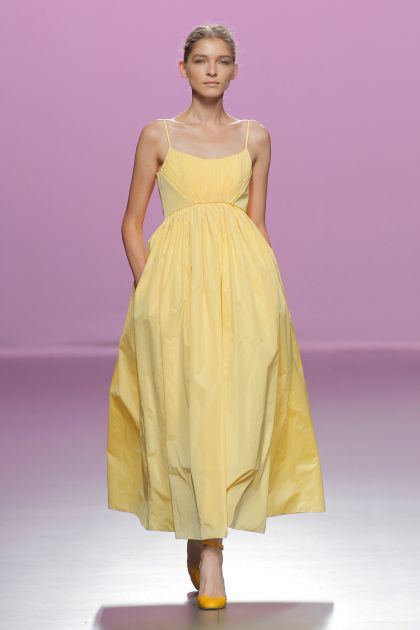 Yellow Empire dress