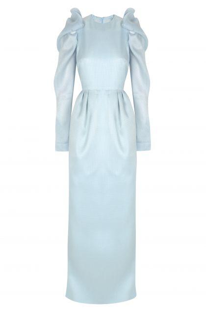Puffed long dress