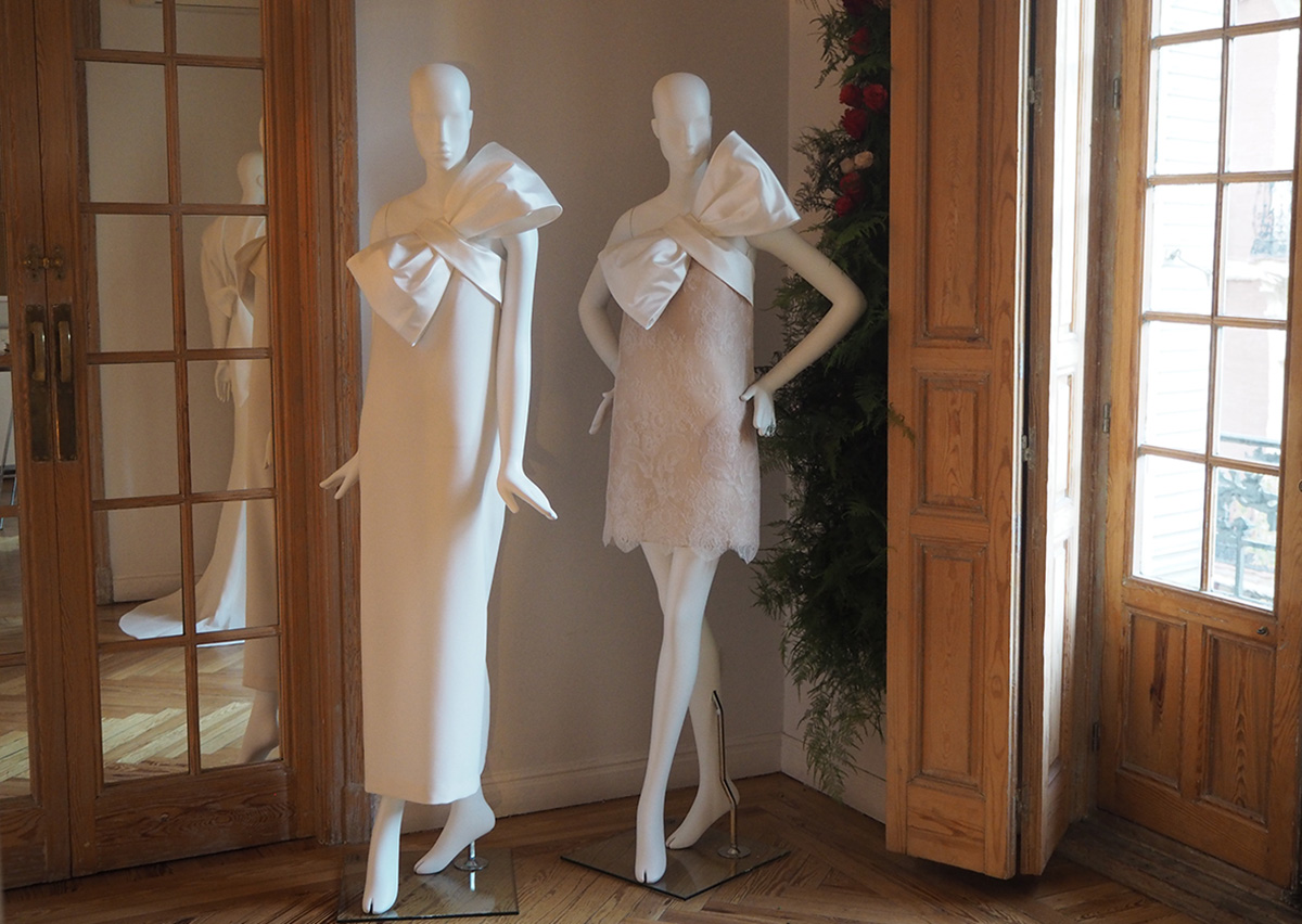 Shorts dresses for daring brides