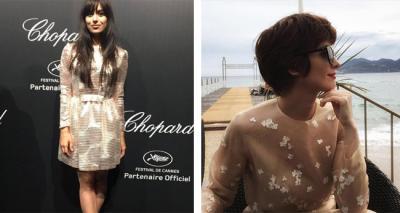 Paz Vega y Marta Pozzan en Cannes